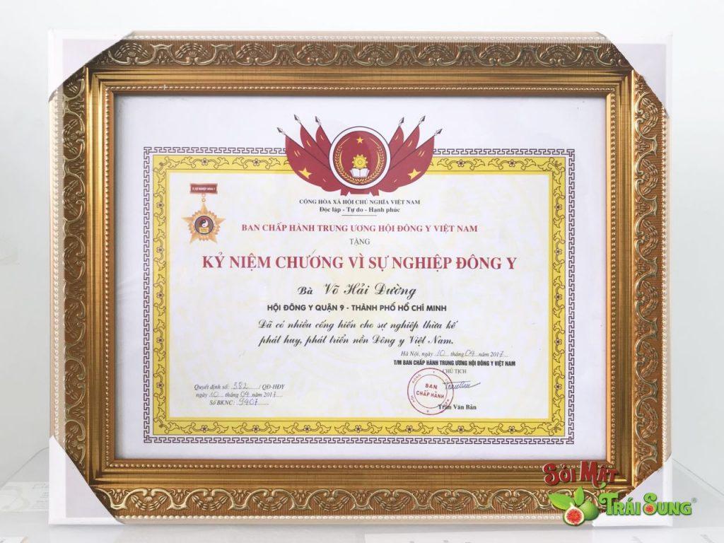 Kỷ niệm chương vì sự nghiệp Đông Y