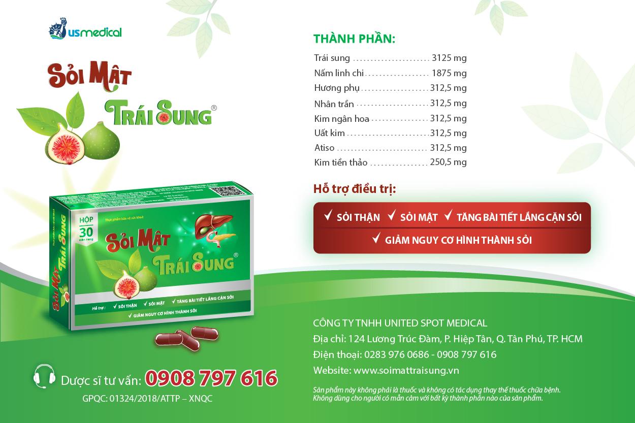 sản phẩm sỏi mật trái sung điều trị sỏi thận